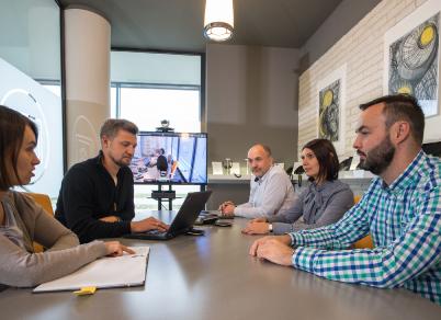 Pracownikcy Grupy 3S podczas spotkania