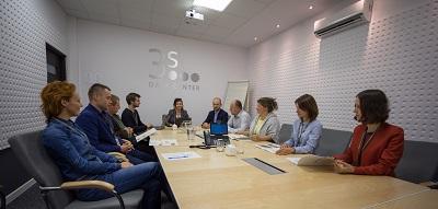 Grupa 3S - spotkanie w sali konferencyjnej